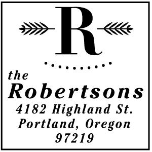 Robertson Address Stamp