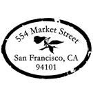 Picture of Market Street Address Stamp