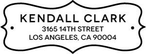 Kendall Rectangular Address Stamp