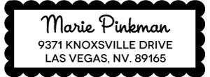 Marie Rectangular Address Stamp