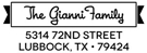 Picture of Gianni Rectangular Address Stamp