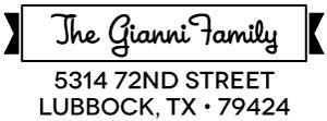 Gianni Rectangular Address Stamp