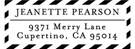 Picture of Jeanette Rectangular Address Stamp