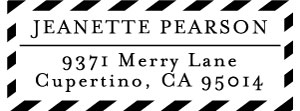 Jeanette Rectangular Address Stamp