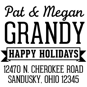 Grandy Holiday Stamp