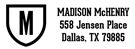 Picture of Madison Rectangular Address Stamp