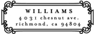 Picture of Williams Rectangular Address Stamp