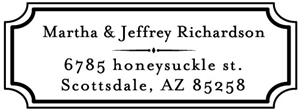 Richardson Rectangular Address Stamp