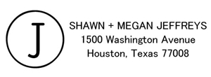 Jeffreys Rectangular Address Stamp
