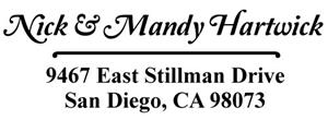 Hartwick Rectangular Address Stamp