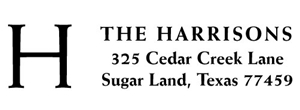 Harrison Rectangular Address Stamp