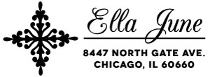 June Rectangular Address Stamp