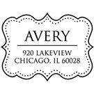 Avery Wood Mounted Address Stamp