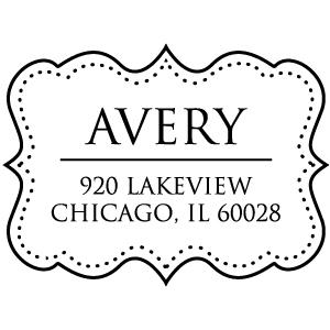 Avery Wood Mounted Address Stamp