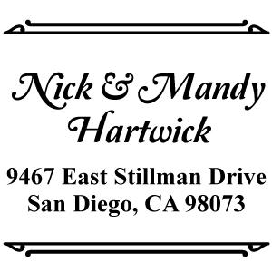 Hartwick Wood Mounted Address Stamp