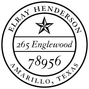 Henderson Wood Mounted Address Stamp