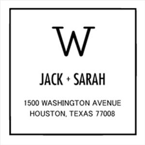 Jack Wood Mounted Address Stamp