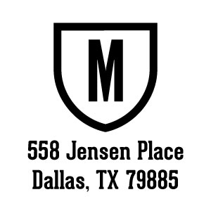 Madison Wood Mounted Address Stamp