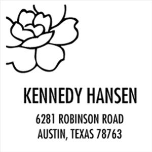 Hansen Wood Mounted Address Stamp