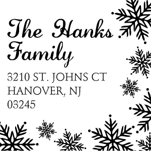 Hanks Wood Mounted Holiday Stamp