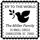 Picture of Miller Wood Mounted Holiday Stamp