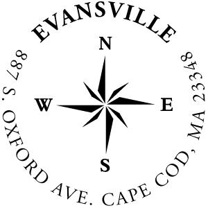 Evansville Wood Mounted Address Stamp