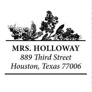 Holloway Wood Mounted Address Stamp