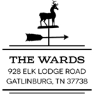 Picture of Ward Wood Mounted Address Stamp