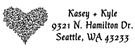 Picture of Kasey Rectangular Address Stamp