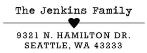 Jenkins Rectangular Address Stamp