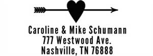Caroline Rectangular Address Stamp