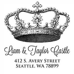 Castle Wood Mounted Address Stamp