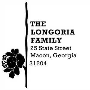 Longoria Address Stamp