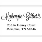 Makenzie Address Stamp