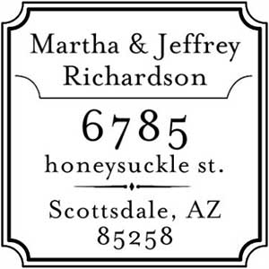 Richardson Address Stamp