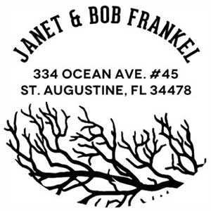 Janet Wood Mounted Address Stamp