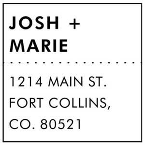 Josh Wood Mounted Address Stamp