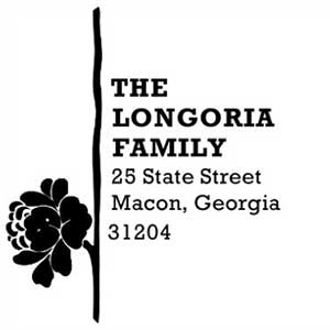 Longoria Wood Mounted Address Stamp