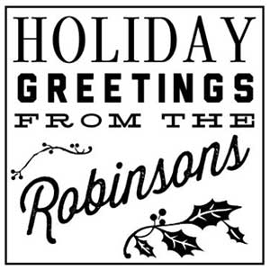 Robinson Holiday Stamp