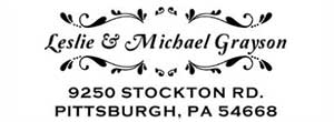 Grayson Rectangular Address Stamp