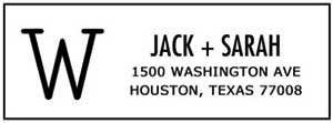 Jack Rectangular Address Stamp