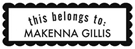 Picture of Makenna Rectangular Craft Stamp