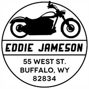 Jameson Wood Mounted Address Stamp