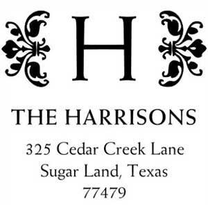 Harrison Wood Mounted Address Stamp