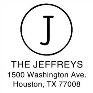 Jeffreys Address Stamp
