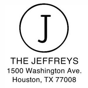 Jeffreys Wood Mounted Address Stamp