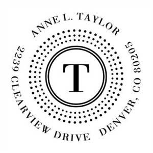 Taylor Address Stamp