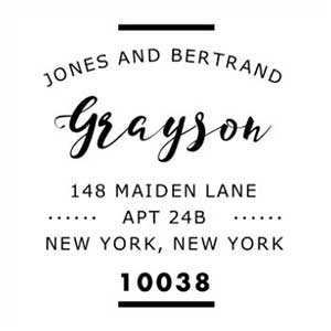 Bertrand Address Stamp