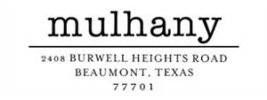 Mulhany Rectangular Address Stamp