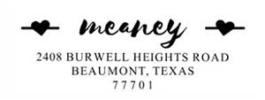 Meaney Rectangular Address Stamp